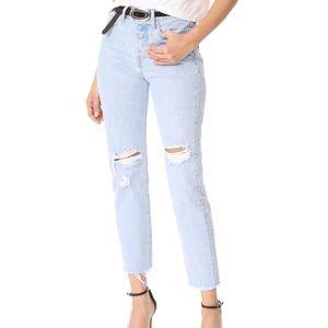 New Levis Distress Jeans w/Raw Hem in Red